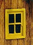 Windows-Small 4 Pane (3pcs)-HO/HOn3/HOn2 Sequoia Models
