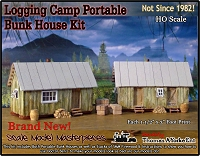 Logging Camp Portable Bunk House/Cabin Kit Scale Model Masterpieces/Yorke Ent. HO/1:87