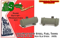 Loco/Machinery Steel Fuel Tanks (2pcs) fsm- HO/HOn3 Sequoia Scale Models