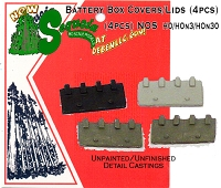 Loco/Machinery Industrial Battery Box Cover (4pcs) Sequoia Scale Models HOn3/HOn30