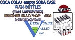COCA COLA/EMPTY SODA CASE W/24 BOTTLES (1set)-BERKSHIRE VALLEY O/On3/On30 1:48-N