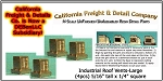 Industrial Roof Vents-Large (4pcs) N/Nn3/1:160-Scale California Freight & Details Co