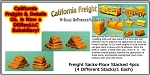 Freight Sacks-Floor Stacked (4pcs) N/Nn3/1:160-Scale California Freight & Details Co