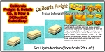 Sky Lights-Modern (3pcs-2ft x 4ft) N/Nn3/1:160 California Freight & Details Co