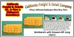 Workbench with Drawers-8ft Long (2pcs) California Freight & Details Co. N/Nn3/1;160