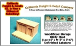 Wood/Steel Storage Utility Shed (1pc-Large) N/Nn3/1:160 California Freight & Details Co