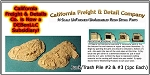 Junk/Trash Pile #2 & #3 (1pc each) N/Nn3/1:160-Scale California Freight & Details Co