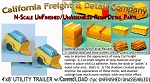 Covered Load 4'x8' UTILITY TRAILER (2kits) N/Nn3/1:160-Scale California Freight & Details Co
