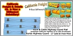 Rock & Cable Highway Guard Rail  (24 inches Long) N/Nn3/1:160-Scale California Freight & Details Co