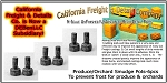 Farmer Produce/Orchard Smudge Pots (6pcs) N/Nn3/1:160 California Freight & Details Co.