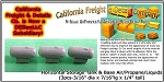 Horizontal Storage Tank & Base Air/Propane/Liquids (3pcs-short) N/Nn3/1:160-Scale California Freight & Details Co.