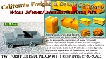 1961 Ford Fleetside Bed Pickup Kit (1Kit) N/Nn3 California Freight & Details Co.