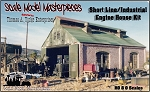 Shortline/Industrial Engine House Kit Scale Model Masterpieces HO/HOn3/HOn30