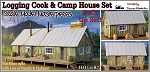 Logging Camp Cook House & Bunk House Built Up Model Scale Model Masterpieces / Thomas A Yorke Ent. HO