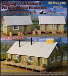Logging Camp Cook House & Bunk House Kit Scale Model Masterpieces / Thomas A Yorke Ent. HO