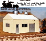 Transition Era/Modern Era Pre-Fab Metal Track Scale Maint Shed Kit Yorke/SMM HO/HOn3