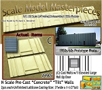 Tilt-Up Spline Style Walls (C)-Single Large Elevated Roll Up Door-Center (2pcs)  SMM-N-Scale