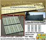 Tilt-Up Spline Style Walls (K)-Four Small Elevated Windows-Center (2pcs) - 20'x40' SMM-N/Nn3