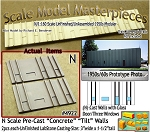 Tilt-Up Spline Style Walls (N)-One Glass Door/Three Windows-(2pcs) Scale Model Masterpieces-N