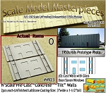 Tilt-Up Spline Style Walls (O)-One Glass Door/Seven Windows-(2pcs) Scale Model Masterpieces-N