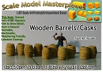 Wooden Barrels/Casks (10pcs)-Scale Model Masterpieces/YORKE HOn30/HOn3