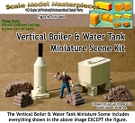 Vertical Boiler & Water Tank Miniature Scene Kit HO/HOn3/HOn30-Scale Model Masterpieces