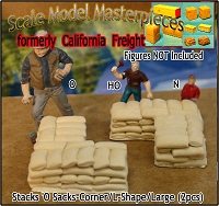 Stacks 'O Sacks-Corner/L-Shape (2pcs) Scale Model Masterpieces HO/HOn3/HOn30