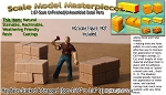 "Hay Bales-Stacked & Strapped (3pcs-9/16"" to 3/4"" lg)  Scale Model Masterpieces HO/HOn3/HOn30-Scale"