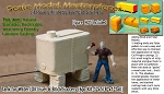Elevated Water/Oil/Fuel Tank & Brick Footers (6pc Kit) Scale Model Masterpieces-HO/HOn3/HOn30