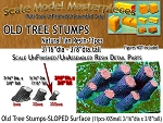 Old Tree Stumps-Sloped Surface (11pcs) HOn3/HOn30/1:87 Scale Model Masterpieces