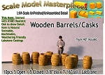 Wooden Barrels/Casks (10pcs) Scale Model Masterpieces S/Sn3/Sn2/1:64