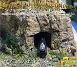 Z Scale Natural Rock Tunnel Portal & Optional Retaining Walls Scale Model Masterpieces 1/220