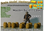 Wooden Barrels/Casks (10pcs) Scale Model Masterpieces O/On3/On30/1:48