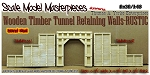 WOODEN TIMBER TUNNEL Retaining Walls-RUSTIC (LabStone) Scale Model Masterpieces O/1:48