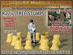 Rustic Tree Stumps-Assorted Straight 12pcs Scale Model Masterpieces S/1:64
