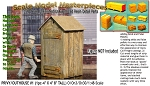 Single Stall Wood Privy/Outhouse KIT #1 Scale Model Masterpieces/Yorke  O/On3/On30 1:48/1:43 *NEW*