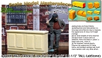 4-Door Wood Wall Cabinet (1pc) O/1:48-YORKE/Scale Model Masterpieces  *NEW*