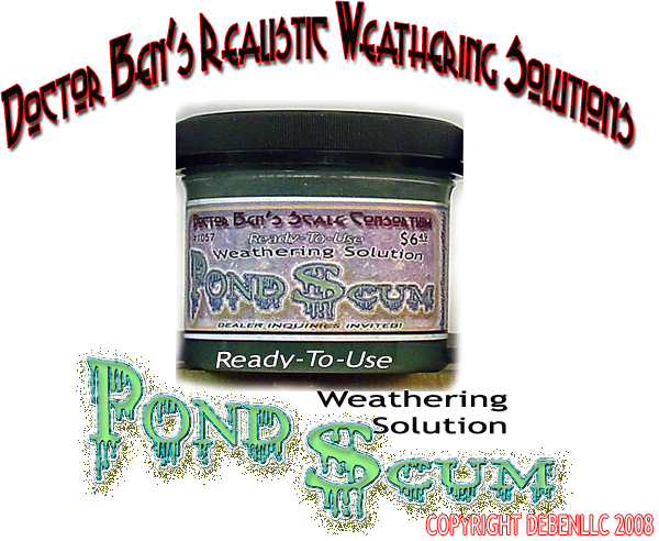 Doctor Ben's Pond Scum Weathering Solution-4 oz.