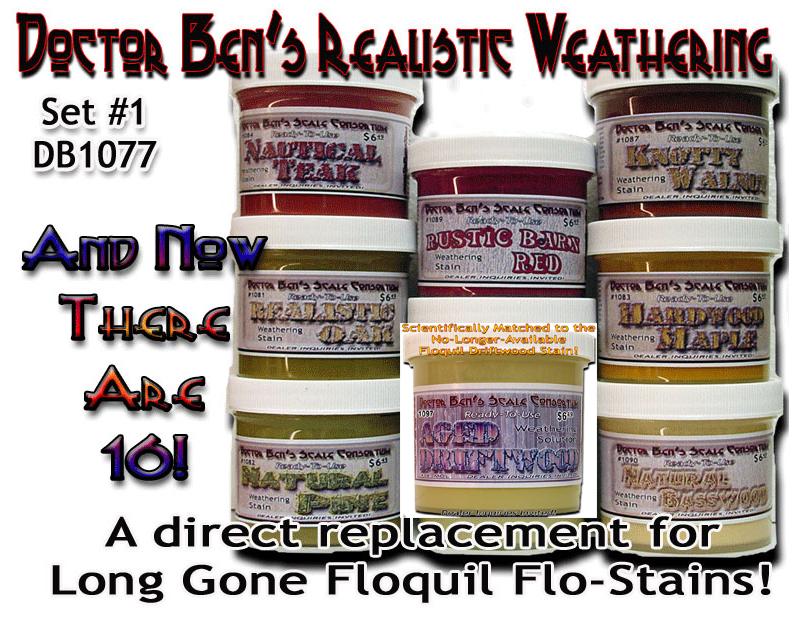 *NEW* Doctor Ben's 4-Piece Special Weathering Solution Set-4-4 oz Bottles!