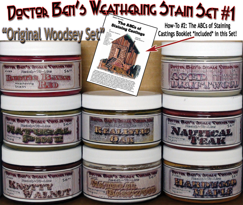 All Eight Doctor Ben's Wood Stains Set #1