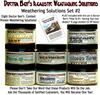 8-JAR WEATHERING SOLUTION SET #2 w/HOW-TO BOOK-DOCTOR BEN'S READY-TO-USE *NEW*