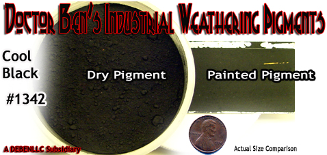 Cool Black Industrial Weathering Pigment/Paint FSM 2oz-DOCTOR BEN'S READY-TO USE