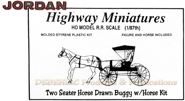 Two Seater Horse Drawn Buggy w/Horse Kit Jordan Highway Miniatures HOn3/HO30