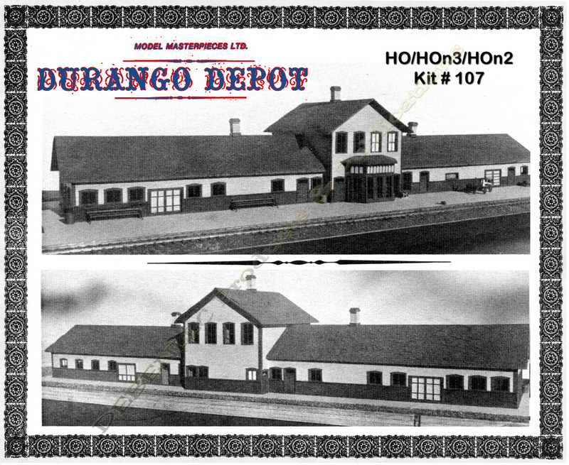 D&RG DURANGO DEPOT *NOS* Kit Model Masterpieces HO/HOn3/HOn2