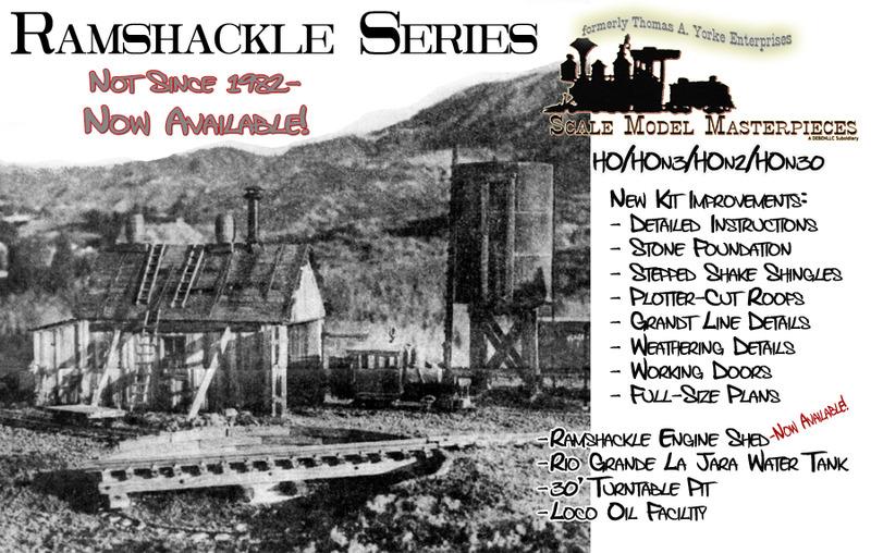 Backwoods Ramshackle Engine Shed Kit by Thomas A. Yorke Enterprises/Scale Model Masterpieces