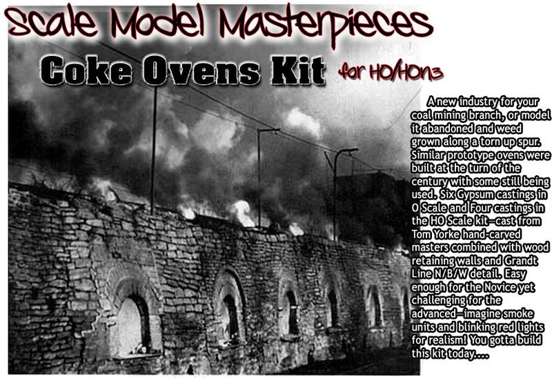 Coke Oven Kits for HO, S & O Scales