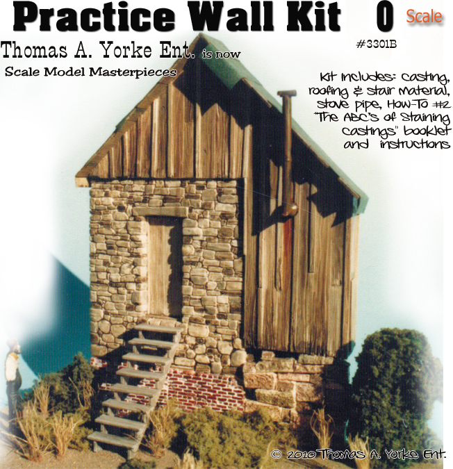 Practice Wall Kit w/How-To Booklet YORKE/SCALE MODEL MASTERPIECES 1:48/On30/On3