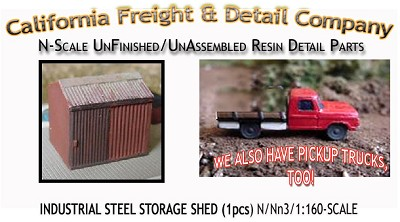 Industrial Steel Sheet Metal Storage Shed (1pc) N/Nn3/1:160 California Freight & Details Co.