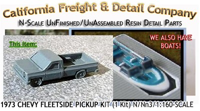 1973 Chevy Fleetside Bed Pickup Kit (1Kit) N/Nn3 California Freight & Details Co.