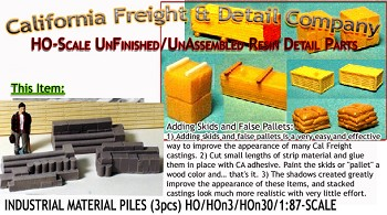 INDUSTRIAL MATERIALS-STACKED (3pcs) HO/HOn3/HOn30-Scale Model Masterpieces *NEW*